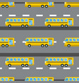city bus seamless pattern vector image vector image