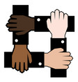 collaboration business of colored people vector image vector image
