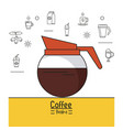 colorful poster of coffee brake with kettle of vector image vector image