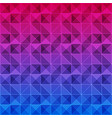 colorful triangle pattern background vector image