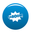 comic boom kaboom icon blue vector image