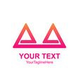 creative abstract double triangle logo design vector image