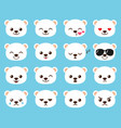 cute cartoon bear emoj vector image