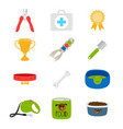 dogs accessorises food toys aid box vector image