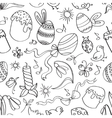 Doodle pattern easter vector image vector image