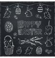 Easter traditional doodle symbols set vector image vector image