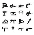 electric tools icons set simple style vector image vector image