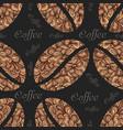 elegant coffee pattern element vector image