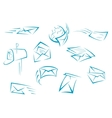 Envelope and mail symbols vector image