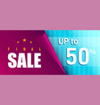 final sale promotional banner design vector image vector image
