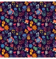 Flowers seamless pattern decorative card vector image vector image