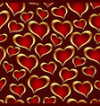 golden hearts background vector image