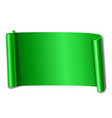green scroll isolated on white background paper vector image