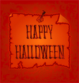 Happy Halloween inscription of bones vector image vector image