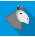 Head of horse icon in flat style vector image