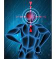 Headache spot in human vector image vector image