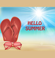 hello summer holiday background vector image vector image