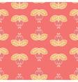 hipster floral line art pattern vector image vector image