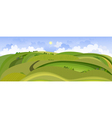 landscape view of the spring field vector image