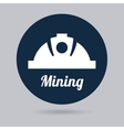 mining icon vector image