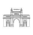 mumbai city icon architectural symbol mumbai vector image