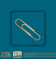 paper clip icon a symbol of office vector image