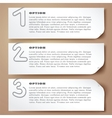 paperclip numbers options abstract banners vector image
