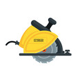 power tools circular saw icon vector image