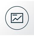 presentation icon line symbol premium quality vector image vector image