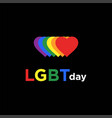 rainbow colorful lgbt lesbian gay bisexual vector image