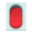 Red switch icon cartoon style vector image