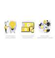 remote developers team abstract concept vector image vector image