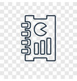 report concept linear icon isolated on vector image