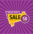 sale discount - layout concept vector image vector image
