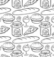 Seamless food vector image vector image