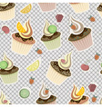 Seamless pattern cupcakes vector | Price: 1 Credit (USD $1)