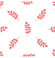 seamless pattern of red autumn leaves on white vector image vector image