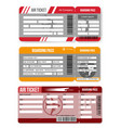 set airline boarding passair ticket template vector image