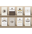 Set of coffee brochures in vintage style vector image vector image