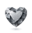 Shiny isolated diamond heart shape on white vector image