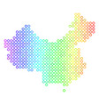spectral cirle dot china map vector image vector image
