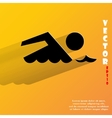 SWIMMER pool Flat modern web button with long vector image vector image