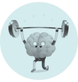 Train your brain weightlifting vector image vector image