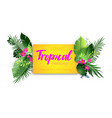 tropical hot poster vector image