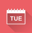tuesday calendar page pictogram icon simple flat vector image vector image