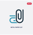 two color metal paper clip icon from other vector image vector image