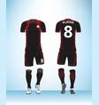 uniform football black vector image vector image