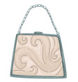 vintage purse with ornaments and trendy chains vector image vector image