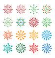 firework icons set vector image