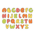 abc colorful english alphabet bright letter vector image